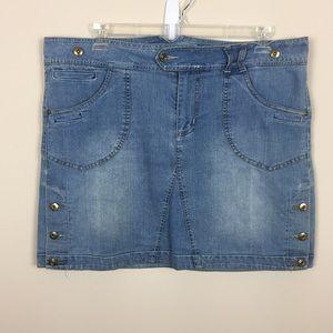 Women's Sz 2X Apollo Jeans Denim Skirt